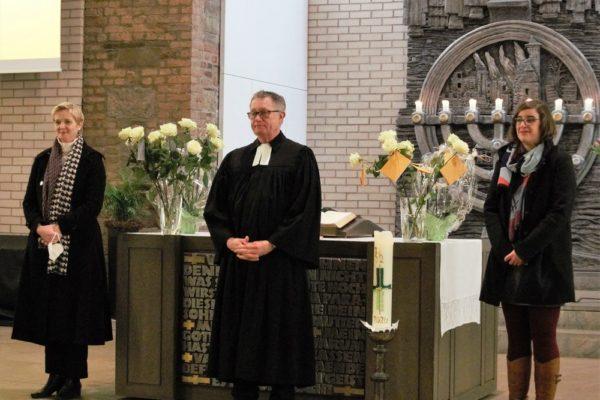 Wiebke Herbeck wurde heute offiziell von der Ev. Kirchengemeide Altenkirchen als KOMPA-Leitung begrüßt
