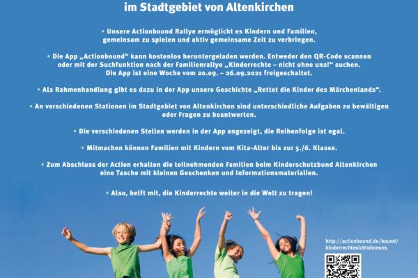 """Familienrallye """"Kinderrechte-nicht ohne uns!"""" in der Woche der Kinderrechte und zum Weltkindertag"""